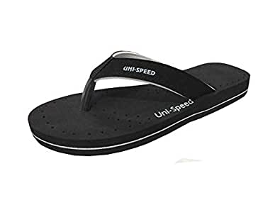 UNISPEED Women's Super-Soft Foot Relief Slippers (Doctor's Choice) (4, Black)