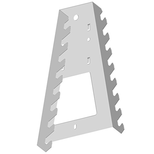 Element System 11410-00002 Werkzeughalter Maul-, Ringschlüssel/für Werkzeuglochwand/Lochplattenwand/weiß