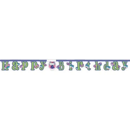 ner * TRENDY EULEN * für Kindergeburtstag und Motto-Party // Kinder Geburtstag Owl Eule Motto Party Deko Letter Banner ()