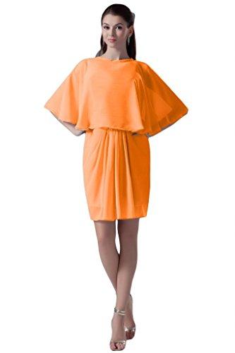 Sunvary Sexy in stile moderno, con allacciatura al collo, da donna, per abiti da sera Empire vita, per sera Gowns Orange