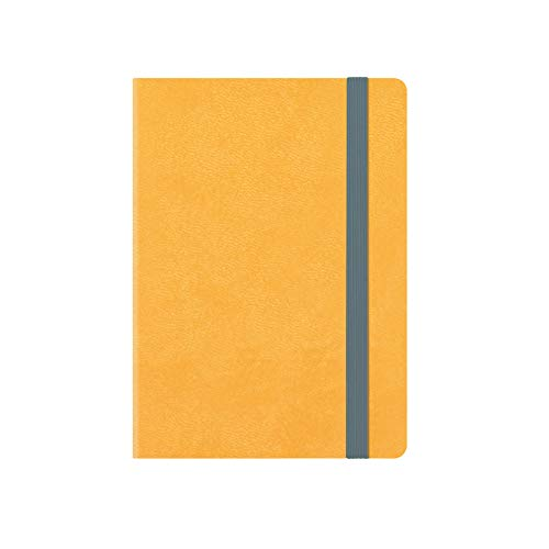 Small weekly diary with notebook 18 mesi 2019/2020  - yellow