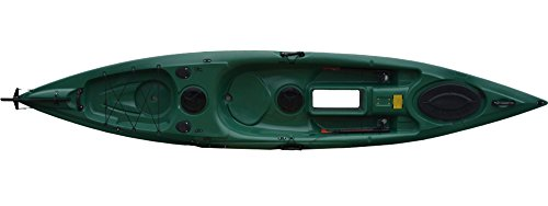Kajak Salty auch als Angelkajak super Kippstabil mit Steuerung und Bodenfenster, Farbe:Camouflage;Ausstattung:Mit Ruder