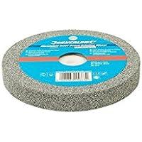 Silverline 390392muela de óxido de aluminio para esmeriladora de banco (, 0V, Gris