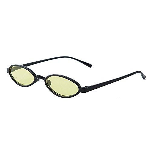 Likecrazy Unisex Oval Shades Sunglasses Damenmode Sonnenbrille Farben Verspiegelt Herren Accessoires Zubehör Brillen Leicht Sport Damenbrille Herrenbrille