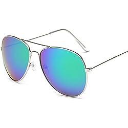 Atdoshop Prämie Voll Mirrored Pilotenbrille Flieger Sonnenbrille UV400 Schutz Optimal Entwurf Herren und Frauen Aviator Sonnenbrillen (E)