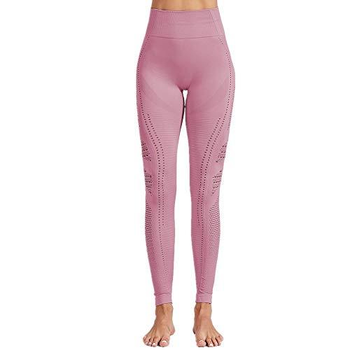 SXZG Frauen Sport Fitness Anzug Nahtlose Stricken Hohlen Sexy Hüften Leggings Feuchtigkeitstransport Yogahosen