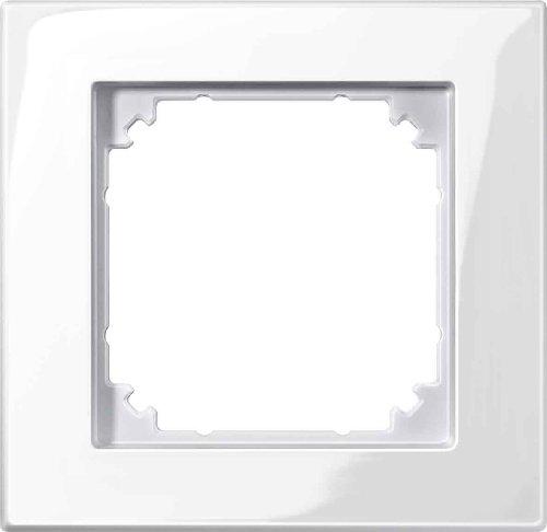 Preisvergleich Produktbild Merten M-PLAN II-Rahmen, 1 fach, bündiger Einbau, polarweiß glänzend, 503119