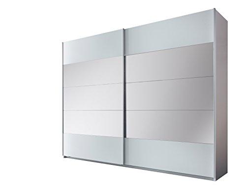 Stella Trading Penta  2-türiger Kleiderschrank, Holz, weiß, 60 x 270 x 210 cm