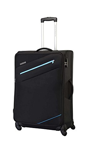 American Tourister Polyster Fiji Sp 58 Cm Black Soft Trolley