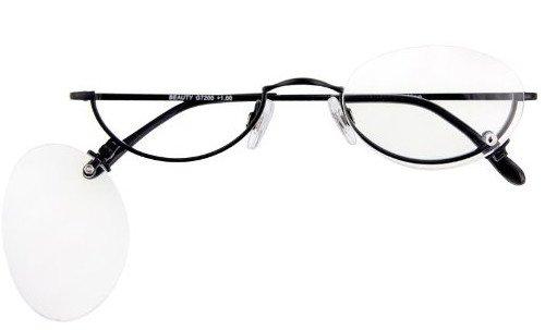 Lesebrille / Lesehilfe Schminkbrille Beauty in schwarz inkl. Brillenetui in Stärke +3,00 dpt