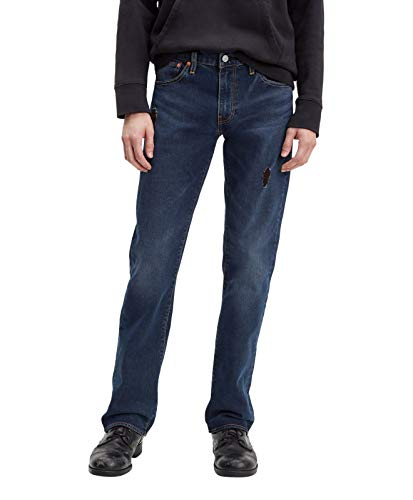 Levi´s ® 527 Jeans Slim FIT Boot Cut Herren Hose Blue/Black W34/L34 (Cut-hose Slim)