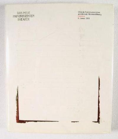 Preisvergleich Produktbild Das neue Prinzregententheater. Festschrift zur Wiedereröffnung des Prinzregententheaters in München am 9.Januar 1988.