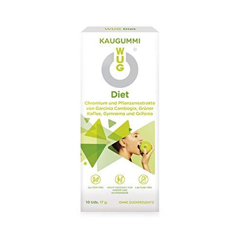 WU Gum Diet - die Abnehmhilfe I Hemmt den Appetit und Stoppt den Heißhunger I Ideal zur Unterstützung beim Abnehmen und Diäten I 10 Stück Kaugummis -