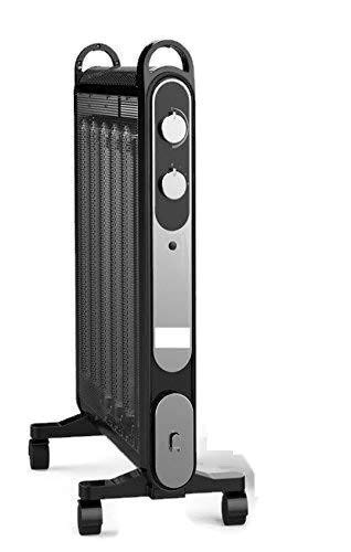 Black 2000W Electric Mica Convector Panel Heater