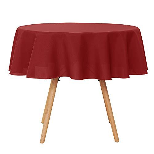 sentials Tischdecke Wasserabweisend Tischdecke Lotuseffekt Tischtücher Rund 160 cm Rot ()