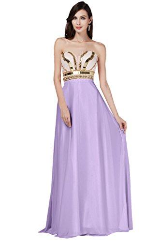 Toscana Braut Robe longue de soirée en forme de cœur en mousseline pour demoiselles d'honneur StandART42 Violet - Lilas