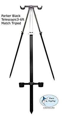 Parker Angling Black 3-6ft Telescopic Match Sea Fishing Tripod Rod Rest from Craig Parker