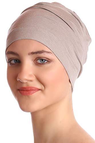 Deresina Headwear Unisex Kappe Aus Baumwolle für Krebs, Haarverlust - Schlafmütze (Umber) Fashion Unisex Schal