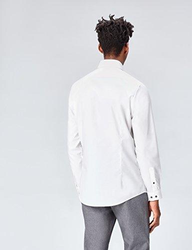 FIND Herren Hemd Charlie Tailored Fit Weiß (White)
