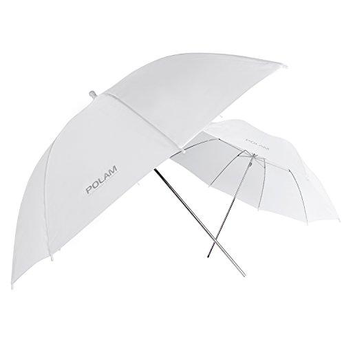 """POLAM-FOTO 33""""/84cm Parapluie Photo/Parapluie d'Eclairage de Studio, Parapluie Translucide/Blanc de Lumière douce pour la photographie (2 pièce) ¡"""