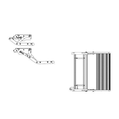 Thule Omnistor Trittstufe Single Step V10 Manuell 550 Alu, 34164