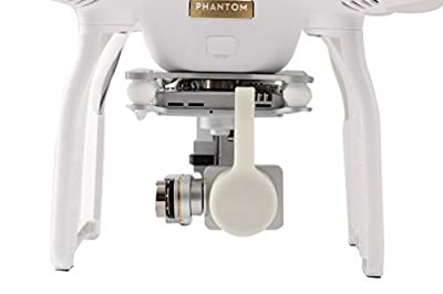 Camera Lens Protective Cover Cap Hood Protector for Phantom 3 Quadcopter plastic white, by LC Prime