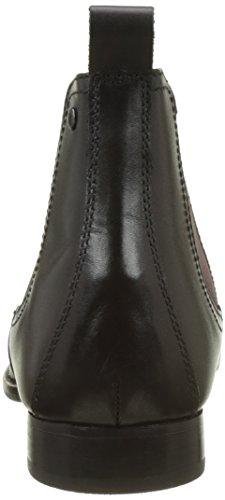 Base Londra Herren Holton Chelsea Boots Noir (nero Ceroso)