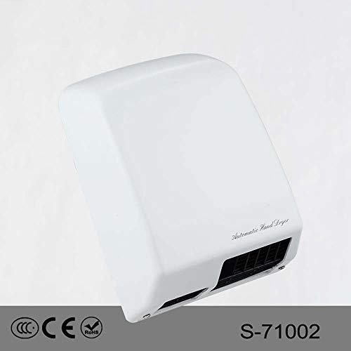 Händetrockner, Automatische Kommerzielle Händetrockner, 1400 W Hochgeschwindigkeits Haushaltsgeräte Wandhandtrockner Berührungslos Mit Sensor For Badezimmer / Toiletten (220V) ( Color : White ) -