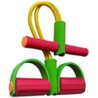 Grip Strengthener Tubo de látex Pedal Extractor de Pecho Expander Brazo Ejercitador Equipo de Ejercicios para Mujeres (Colorido)