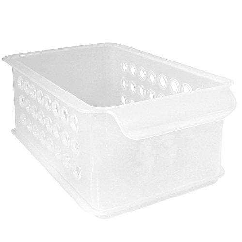 InterDesign 09367EU Morley Aufbewahrungskorb für Büro, Garage, Badezimmer - Durchsichtig Plastik 15,24 x 25,10 x 10,16 cm