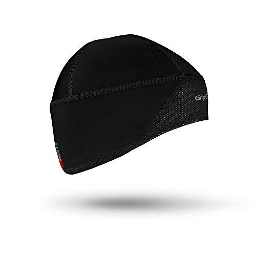 GripGrab Windproof Thermal Lightweight Hi-Vis Skull Cap Windster, Schwarz, M