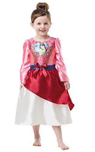 Mulan Kinder Kostüm - Rubie's Offizielles Disney Prinzessin Pailletten Mulan Kostüm Kinder Kleinkind Größe Alter 2-3 Jahre, Höhe 98 cm