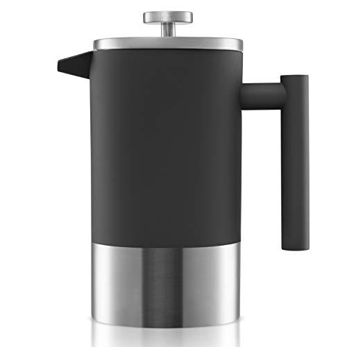 Origeens ☘️ French Press Kaffeebereiter 1L | Isoliert, Edelstahl Doppelwandig, mit Messskala | Kaffeekanne - Teebereiter | Umweltfreundlich & CE-konform