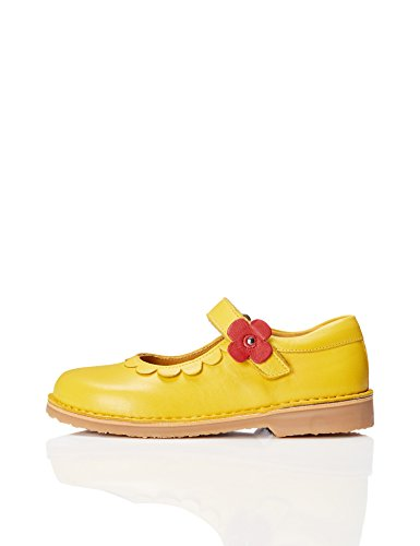 RED WAGON Pop Flower, Girls' Mary Jane Yellow 11 UK Child (29 EU)