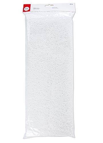 Rayher 3316400 Styropor-Granulat, 3 mm ø, Beutel 50 g, Styropor-Kügelchen, EPS-Perlen, Füllmaterial