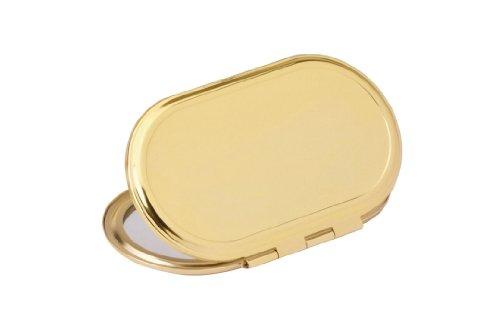 Miroir de poche doré