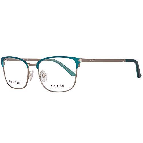 Guess Damen Brille Gu2588 51088 Brillengestelle, Türkis, 51