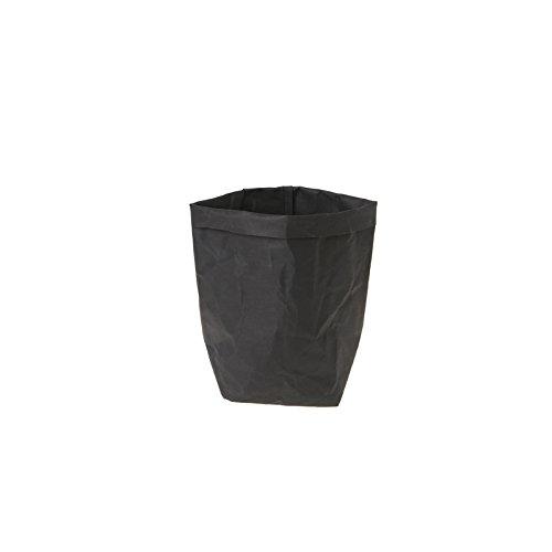 Sac en papier Kraft Shizuhatagayama lavable Multi Fonctions pour plantes et fleurs à pain de stockage de cadeau de fête de mariage, Papier Kraft, Noir , 20 cm