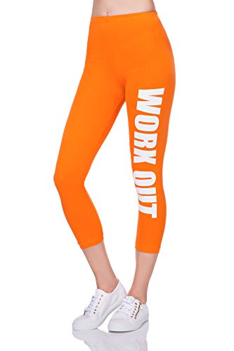 FUTURO FASHION Damen Leggings Orange