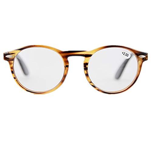 YUNCAT Lunettes de Lecture rétro Cadre Rond Ultra Leger Vintage Force  Transparent lentille optionnelle +1.00 d9fbb16536ce