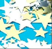 Schwarz, Silver & Golden Groß Sterne Tisch Konfetti 70g Groß Beutel