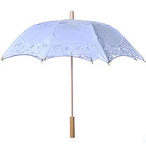 iBaste Sonnenschirm Spitze, Spitze Sonnenschirm Regenschirm für Braut Brautjungfer Hochzeit Fotografie Prop