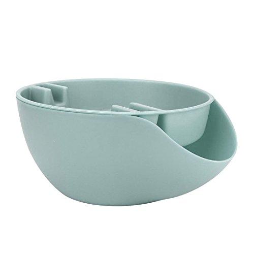 SODIAL Doppelschicht Trocken Obst Samen Snacks Schuessel Schale Aufbewahrungsbox Platte Tablett Fuer Telefon - blau (Platte-aufbewahrungsbox)