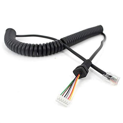 Peanutaod Mikrofonkabel für Yaesu MH-48A6J FT-7800 FT-8800 FT-8900 FT-7100M FT-2800M FT-8900R Verlängerungskabel für Handmikrofone