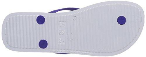 Ipanema Classica Temas Damen Zehentrenner Blau (White/Purple/Pink 23422)