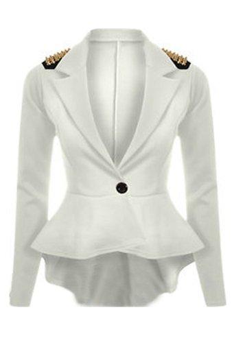 MAK FASHION - Blouson -  Femme Blanc - Blanc