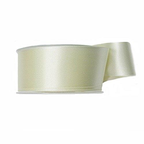 P&B de Haute qualité Double Face Ruban Satin, Polyester, Off/Blanc, 48 mm x 25 m