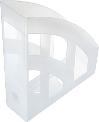 Helit H2361010 - Raccoglitore da ufficio verticale Economy, DIN A4 - C4, in plastica, bianco traslucido