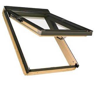 66 x 140 - FAKRO FPP - Klapp/Schwingfenster Holz FPP-V U3 mit Dauerlüftung und EDR für Dachziegel