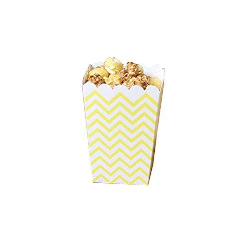 Black Temptation Film-Theater Popcorn-Boxen Party-Boxen - Gelbe Wellen - 12PCS